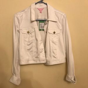 Lilly Pulitzer Jean Jacket, size 8, New With Tags